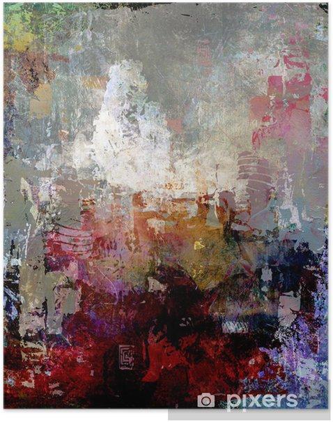Poster Peinture abstraite textures - Styles