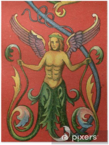 Poster Peinture Murale De Pompéi