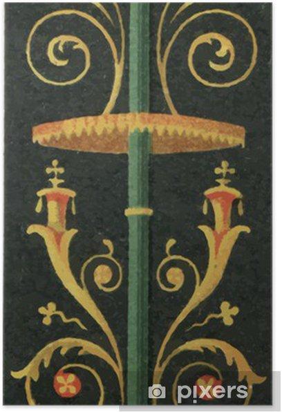 Poster Peinture murale de Pompéi. - Arrière plans