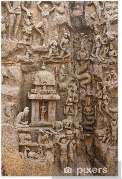 Poster Pénitence d'Arjuna Monument - Asie