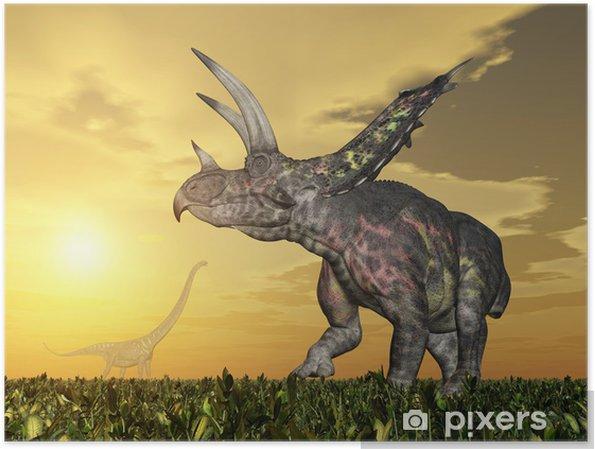 Poster Pentaceratops de dinosaure - Thèmes
