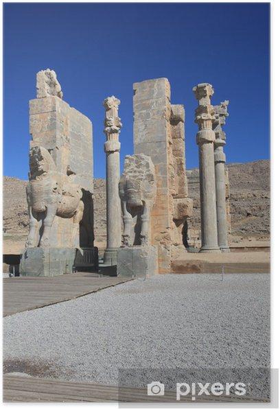 Persepolis Ruins Of Xerxes Darius Palace Poster Pixers We Live To Change
