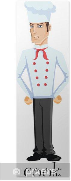 Poster Personnage de dessin animé - cuire - Au travail