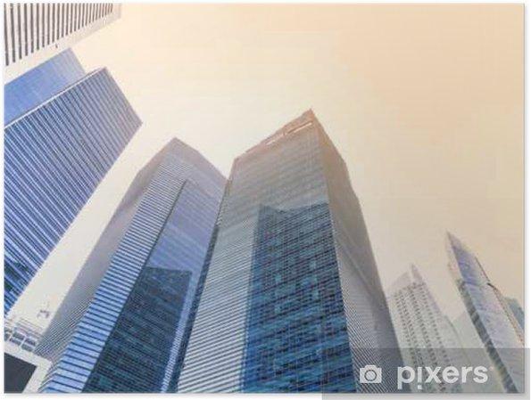 Póster Perspectiva de la construcción abstracta con filtro de luz del sol - se puede utilizar para mostrar o montaje sobre el producto - Paisajes