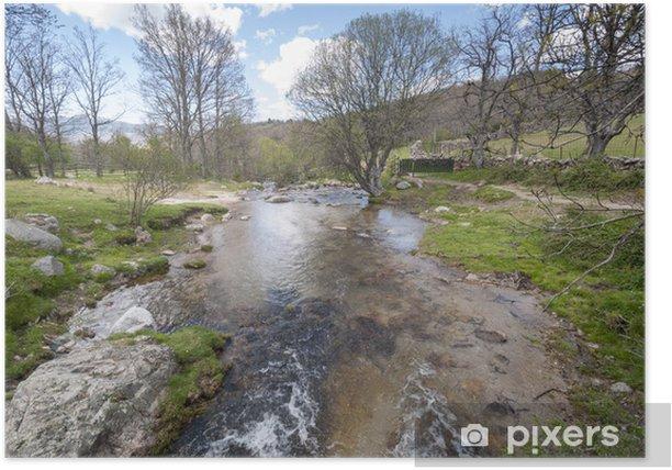 Poster Petit cours d'eau dans Lozoya Valley, Rascafria, Madrid, Espagne - Villes européennes