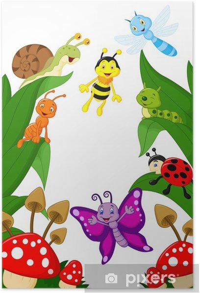 Poster Petit dessin animé animaux - Autres Autres