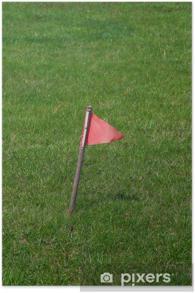 Poster Petit drapeau rouge - Sports d'extérieur