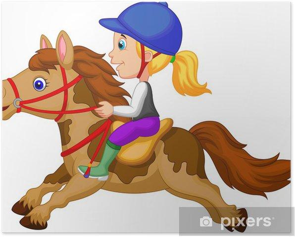 Équitation équestre chevaux un Vinyle Autocollant Mural Art Chambre À Coucher Poster Autocollant