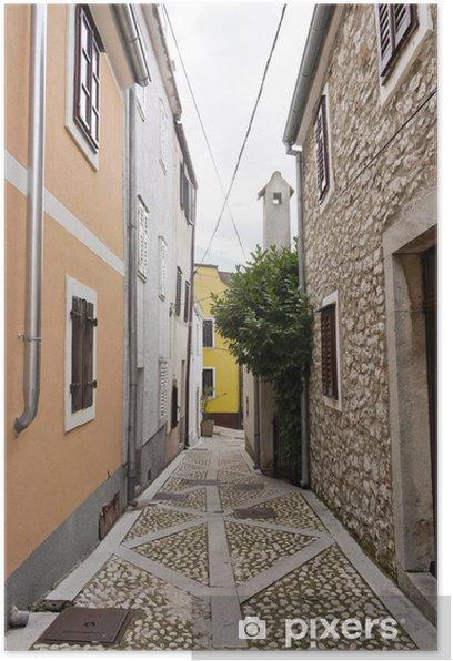 Poster Petite ruelle en Croatie - Thèmes