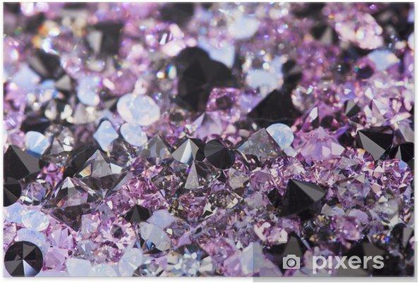 Poster Petites pierres de gemme pourpre, fond luxe profondeur de fiel - Réussite