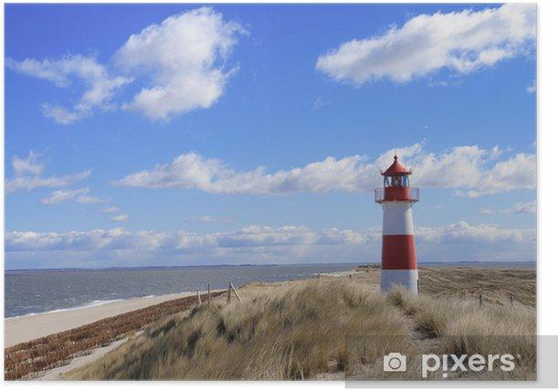Poster Phare phare phare Sylt dunes Danemark - Phare