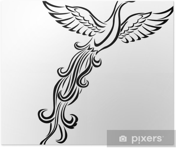 Phoenix Bird Tattoo Poster