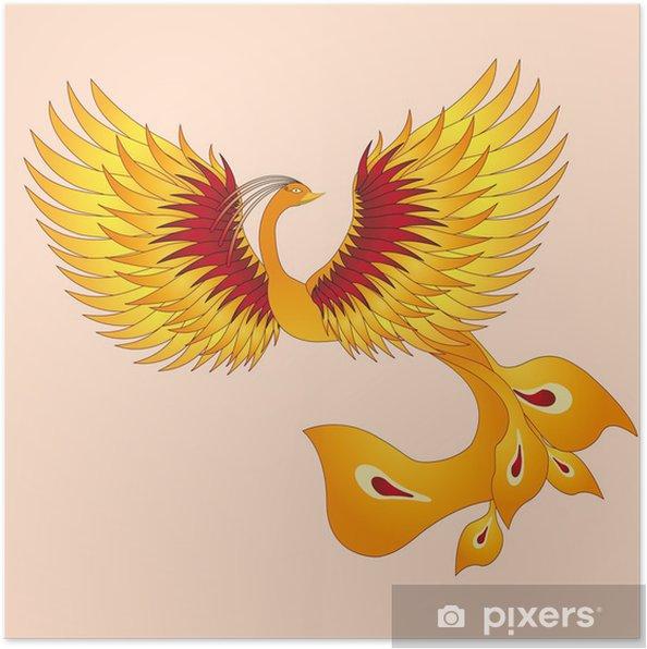 Phoenix With Straighten Wings Poster Pixers We Live To Change