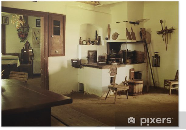 Photo of rustic wooden interior Poster - Monuments