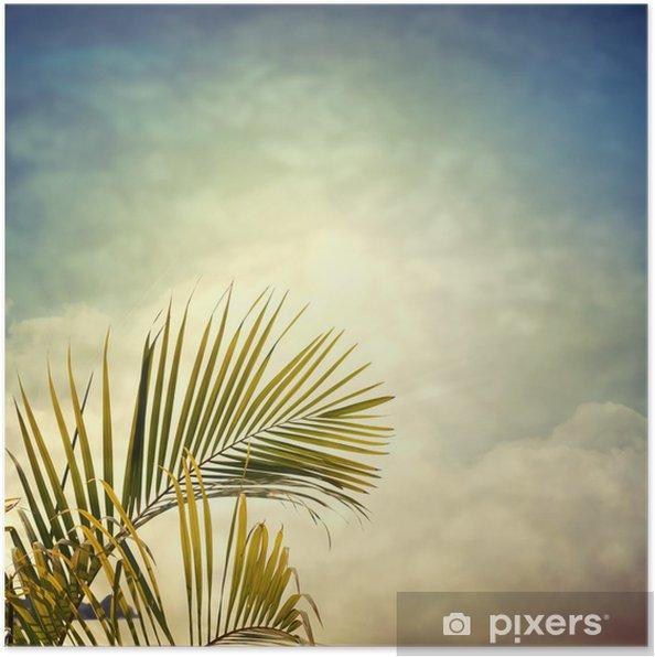 Poster Photobeach-12 - Palmbomen