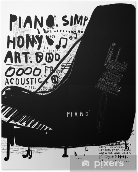 Póster Pianino - Hobbies y entretenimiento