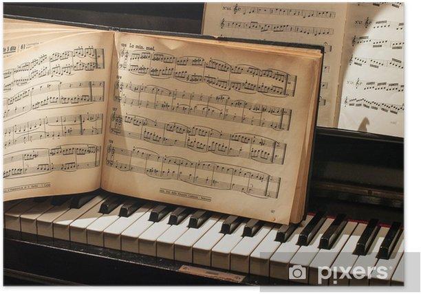 pianoforte con spartito Poster - Music