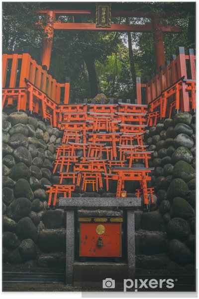 "Poster Piccoli ""torii"" giapponesi - Bâtiments publics"