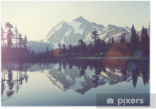 Picturesque lake Poster - iStaging
