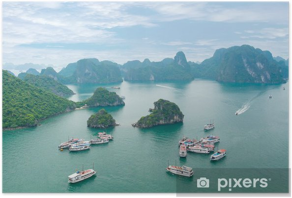 Poster Picturesque sea landscape. Baie d'Ha Long, Vietnam - Asie