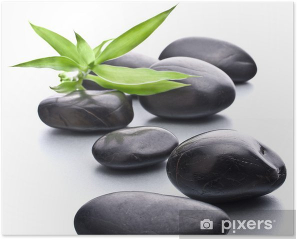 Póster Piedras zen. Stone spa y el concepto de salud. - Belleza y cuidado personal
