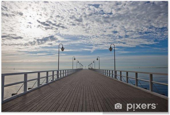 Poster Pier dans la matinée. Orlowo, Pologne. - Styles