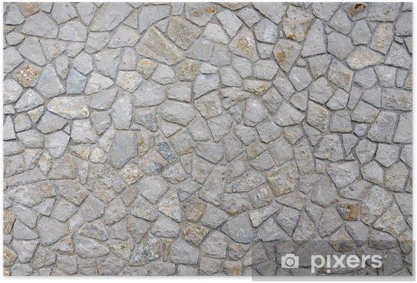 Poster Pierre mural - Textures