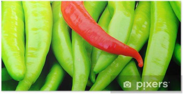 Póster Pimientos rojos y verdes - Comida