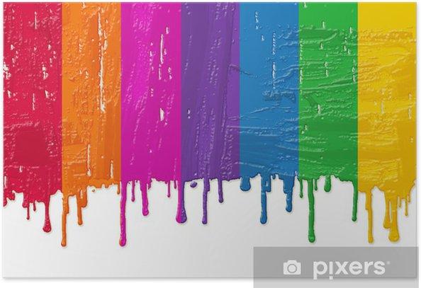 Póster Pintura arco iris - Fondos