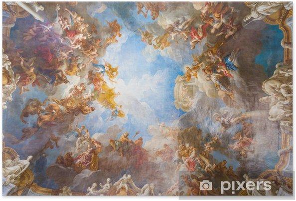 Póster Pintura del techo del palacio de Versalles, cerca de París, Francia - Monumentos