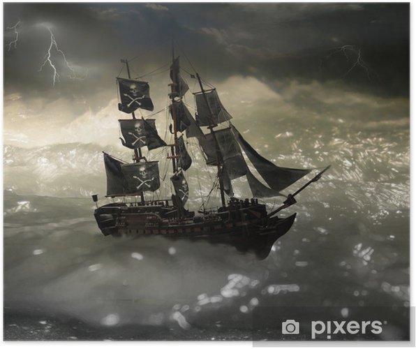 Póster Pirata - Barcos