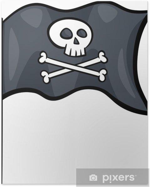 Kleurplaten Piratenvlag.Poster Piratenvlag Cartoon Clip Art