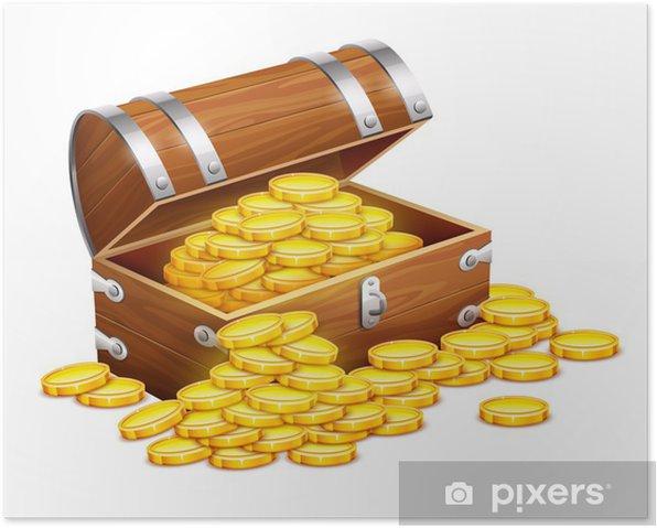 Poster Pirates Tronc Coffre Plein De Pieces De Monnaie En Or Tresors Eps10 Vecteur Pixers Nous Vivons Pour Changer