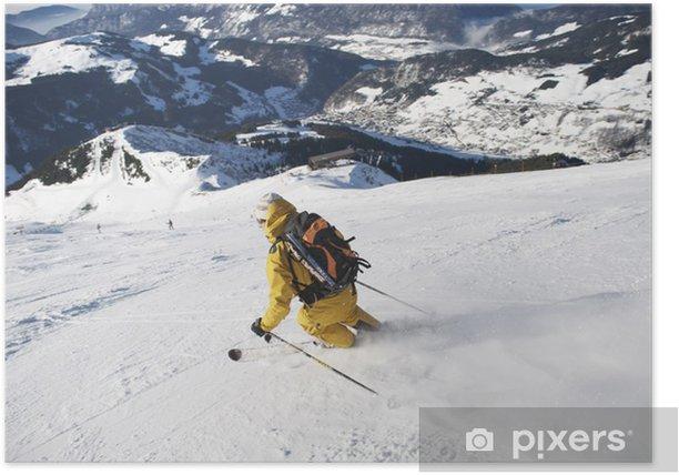 Poster Piste de ski - Sports d'hiver