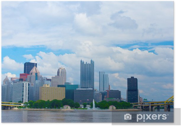 Pittsburgh Pennsylvania Skyline Poster - Urban