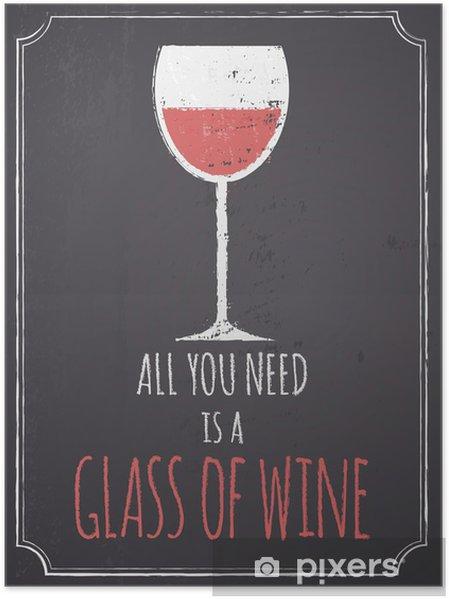 Póster Pizarra Red Wine Design - Estilos