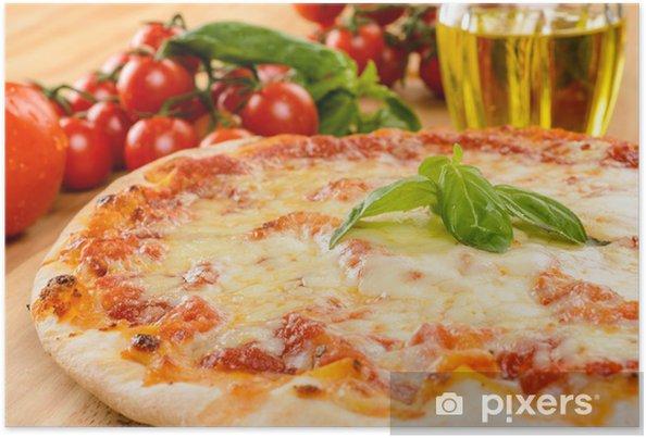 Poster Pizza marguerite, close-up, attention sélective - Thèmes