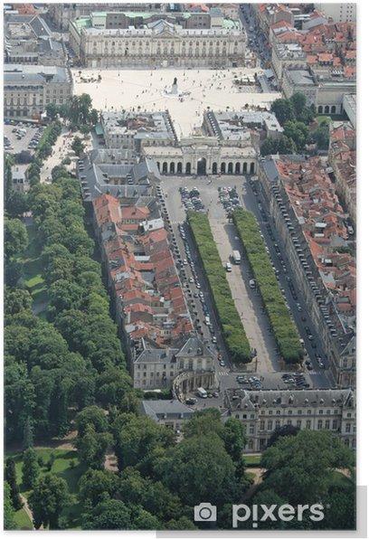 Poster Place Stanislas - Place de la carièrre - Vacances