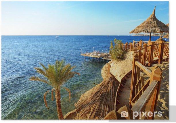 Poster Plage à l'hôtel de luxe, Sharm el Sheikh, Égypte - Vacances