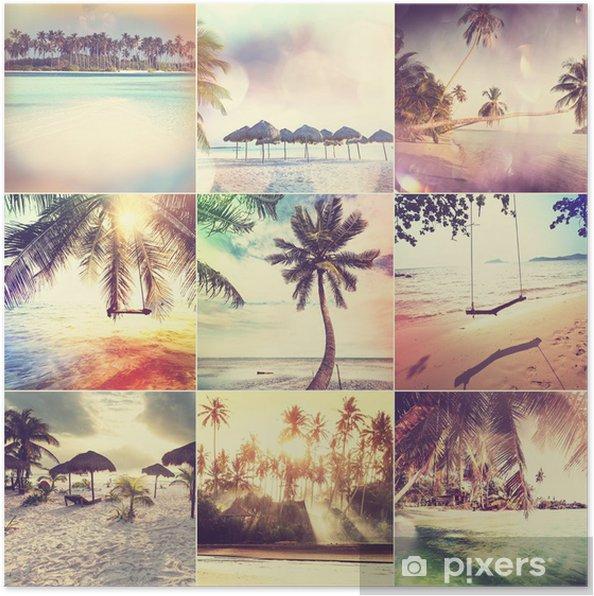 Poster Plage de collage - Vacances
