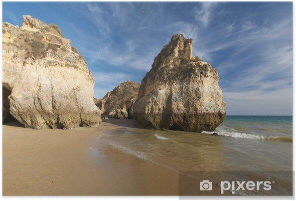 Poster Plage en Algarve 2 - Vacances