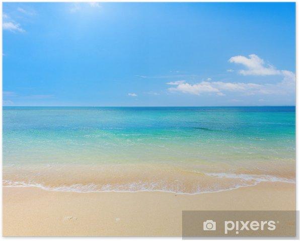 Poster Plage et mer tropicale - Plage et les tropiques