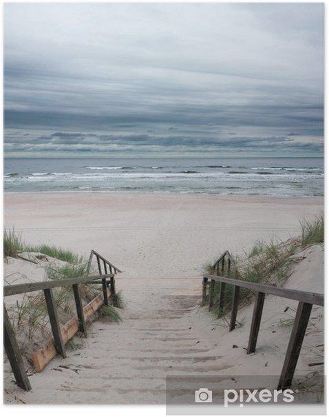Poster Plage - Mer Baltique - Mer et océan