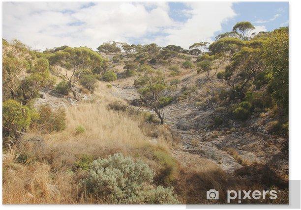 Poster Plaine de Nullarbor, en Australie occidentale - Océanie