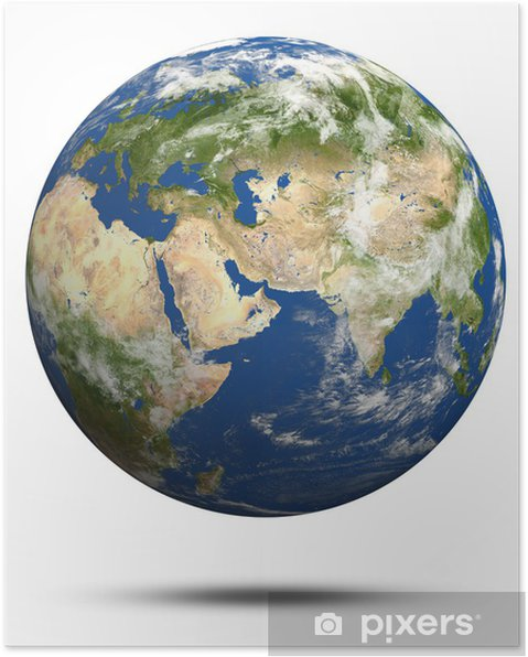 Planet Earth 3d Render Poster Pixers We Live To Change