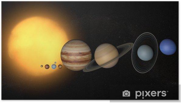 Póster Planetas del Sistema Solar espacio sol universo - Espacio exterior
