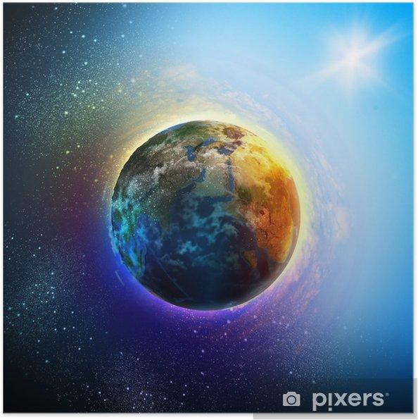 Poster Planète terre - Terre