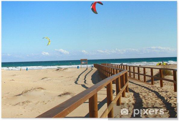 Poster Playa Arenales Alicante y kitesurf - Watersporten