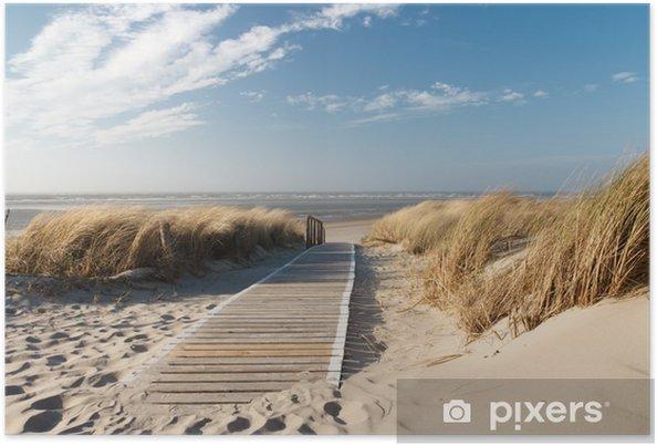 Póster Playa del Mar del Norte en Langeoog - Mar y océano
