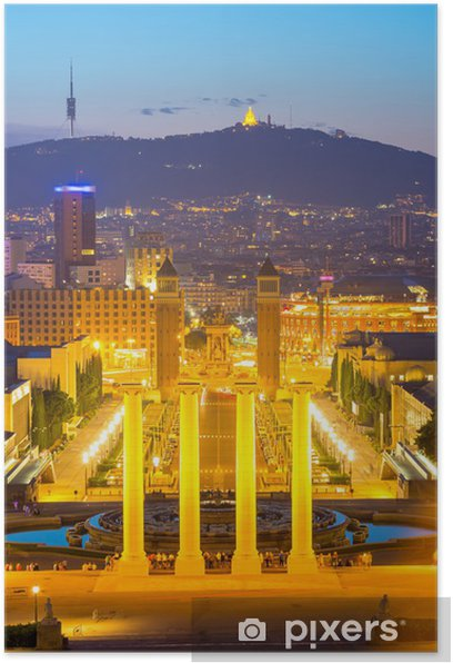 Poster Plaza Espana Barcelone - Thèmes